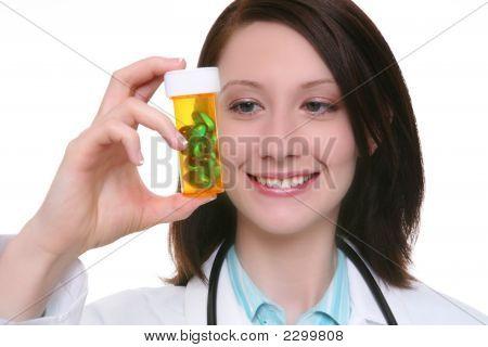 Pretty Nurse With Medication