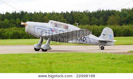 PILSEN, CZECH REPUBLIC - AUGUST 28: Very rare Czech historic plane Tatra T 101.2, Pilsen Aeronautical Days on August 28, 2011 in Pilsen CZECH REPUBLIC.