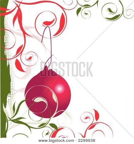 Christmas ornament left border.Eps