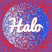 halo word illustration design poster