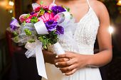 Pink Gerbera Handited Bouquet For Prom poster