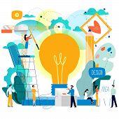 Design Studio, Designing, Drawing, Graphic Design, Education, Creativity, Art, Ideas Flat Vector Ill poster