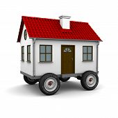 foto of motorhome  - Stylized motorhome on a white background - JPG