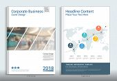 Corporate Business Cover Book Design Template With Infographics, Use For Annual Report, Brochure, Fl poster