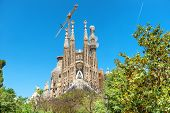 View From The Green Park To Sagrada Familia poster