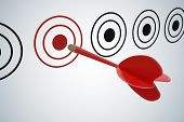 Target Marketing Concept. Target Dart With Arrow. 3d Rendered Il poster