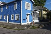 View Of The Facade Of A Colorful House In The Marigny Neighborhood In The City Of New Orleans, Louis poster