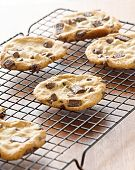 foto of doughy  - cookies cooling on cooling rack - JPG