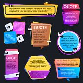 Quote Texting Boxes. Blog Quotes Bubble Vector Templates. Speech Bubble With Text Comment, Template  poster