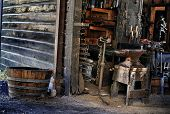 image of blacksmith shop  - old black smith - JPG