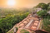 Sigiriya Rock or Lion Rock is an ancient fortress near Dambulla, Sri Lanka. Sigiriya is a UNESCO Wor poster