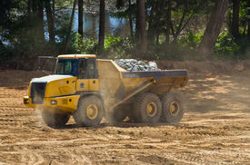pic of dump_truck  - industrial dump truck working in construction site - JPG