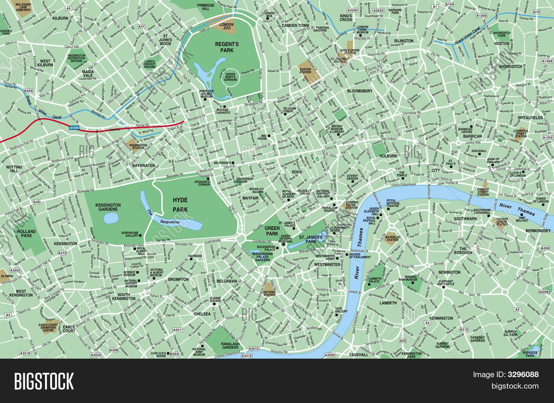 Downtown London Map Image Photo Bigstock - Downtown london map