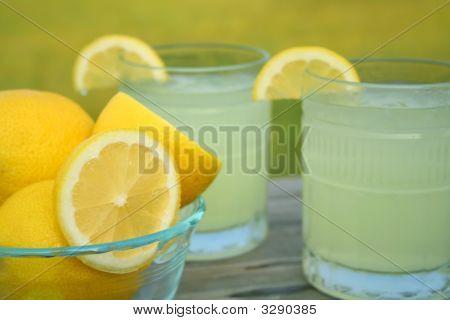 Fresh Lemons And Lemonade