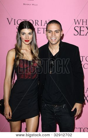 LOS ANGELES - MAY 10:  Cora Skinner; Evan Ross arrives at the Victoria's Secret What Is Sexy? Party at Mr. C Beverly Hills  on May 10, 2012 in Beverly Hills, CA