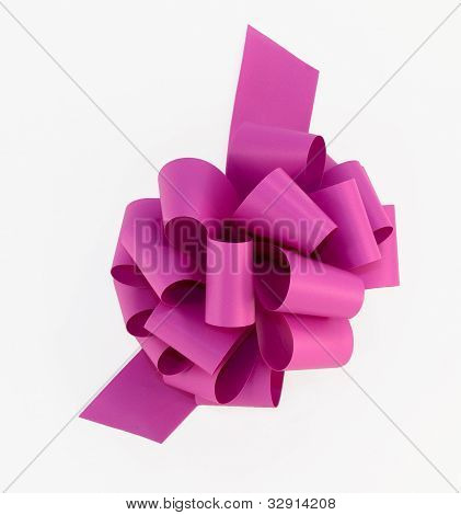 Large Pink Bow With Clipping Path