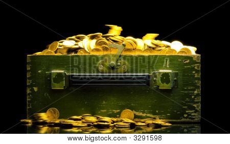 Gold Coins In A Chest