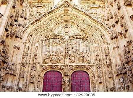 Facade Of Cathedral Of Salamanca