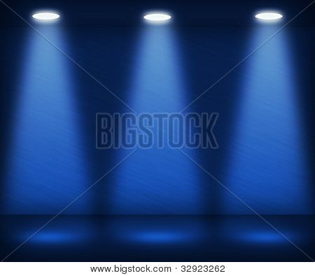 Blue Spotlight Room