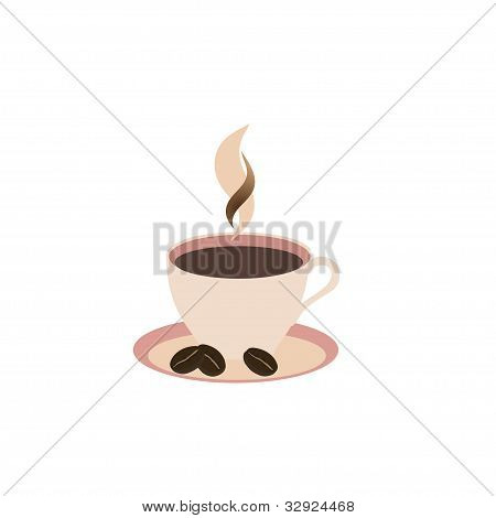 cup on white background, vector