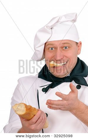 Funny Chef With Loaf