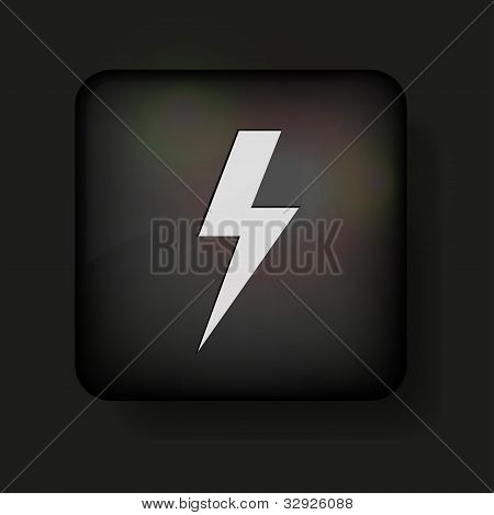 Vector Lightning Bolt icono negro