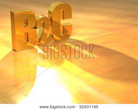 3D B2C Gold Text