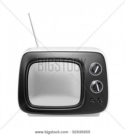 White retro TV
