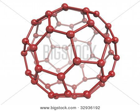 Isolated Red C60 Fullerene