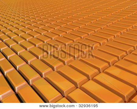 Plane of gold bars