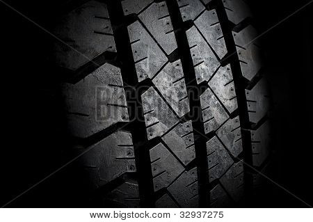 New tire abstract close up
