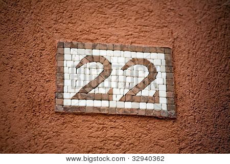 Mosaic Door Number