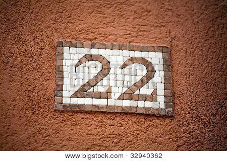 Mosaic Door Number