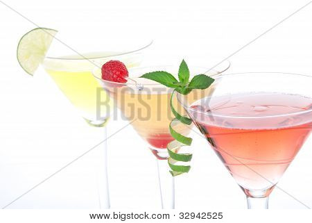 Popular Alcoholic Cocktails Composition
