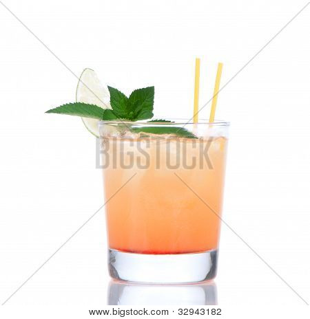 Alcohol Tequila Sunrise Or Margarita Cocktail