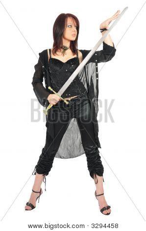 Assassin Girl Check Sword