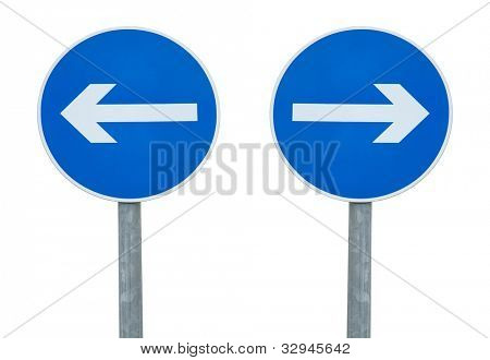 Arrow sign pointing in different direction