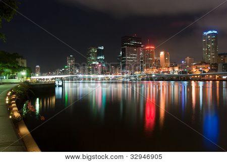 Brisbane City At Night - Queensland - Australia