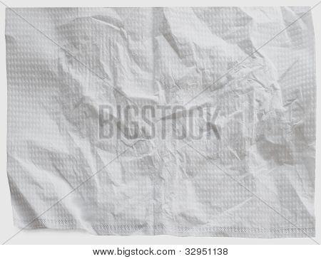 Napkins Texture Isolated White