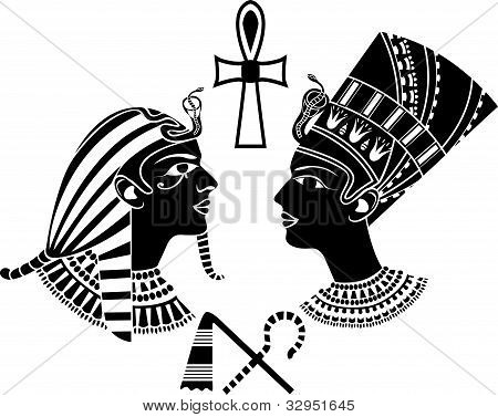 ancient egypt king and queen