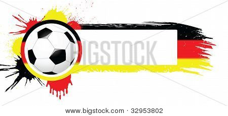 Soccer ball with banner