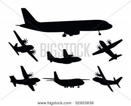 Plane silhouettes