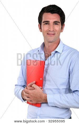Man holding folder