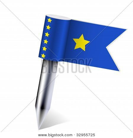 Vector Zaire Flag Isolated On White