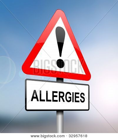 Allergies Warning.