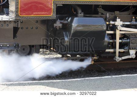 Steam Train Venting Steam