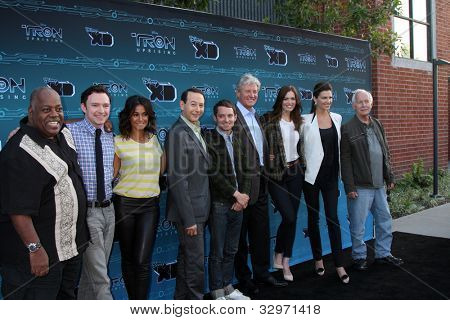 LOS ANGELES - MAY 12:  TRON: Uprising  Cast arrives at the Disney XD's