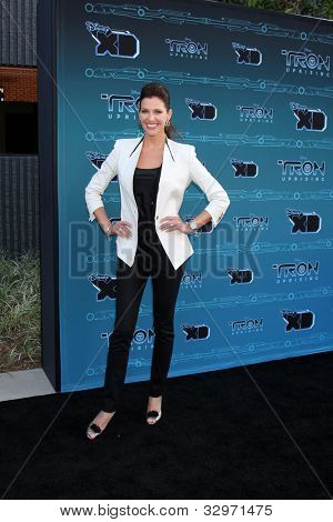 """LOS ANGELES - MAY 12:  Tricia Helfer arrives at the Disney XD's """"TRON: Uprising"""" Press Event and Reception at DisneyToon Studios/Disney Television Animation on May 12, 2012 in Glendale, CA"""