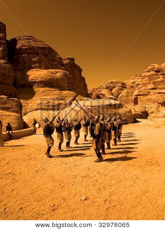 Guards At Petra