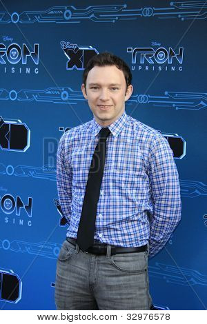 GLENDALE, CA - MAY 12: Nate Corddry at the Disney XD's 'TRON: Uprising' Press Event And Reception at DisneyToon Studios on May 12, 2012 in Glendale, California